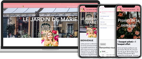 Exemple de site version desktop et mobile